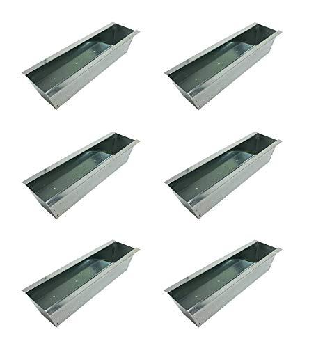 Balkonkasten Pflanzkasten Blumenkasten Metall Zink für Paletten Europaletten 6 Stück