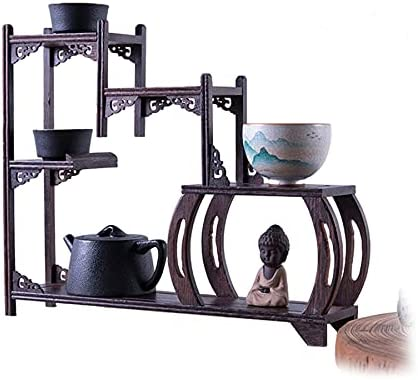 LJSS The Mahogany Display Rack Decoration Can Be Used Not Only A
