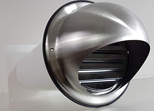 VentilationNord muurkast NW 100 afzuigkap telescopische buis terugslagklep roestvrij staal MKWSKE100