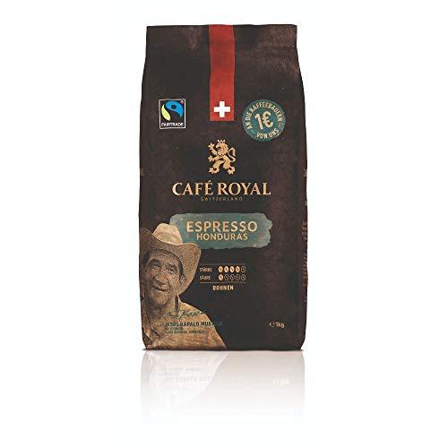 Café Royal Honduras Espresso Bohnenkaffee 1kg - Fairtrade - Intensität 4/5 - 100% Arabica aus Honduras
