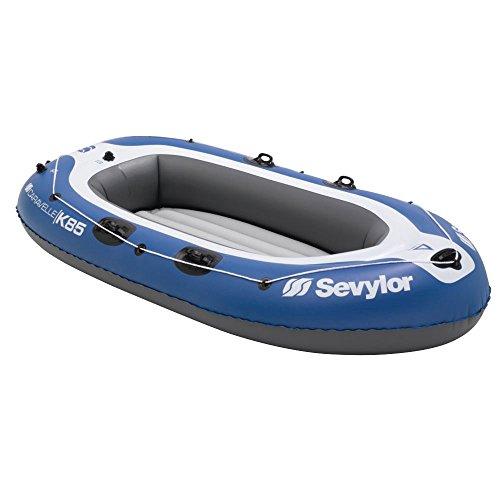 Sevylor Schlauchboot Caravelle K85, aufblasbares Boot, 2 bis 3 Personen, mit Vorrichtung für Elektromotor, 268 x 138 cm