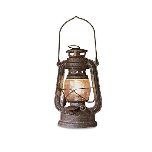 Loberon LED-Laterne Oxcroft, Eisen, Glas, H/B/T ca. 19,5/12,5/10 cm, antikbraun