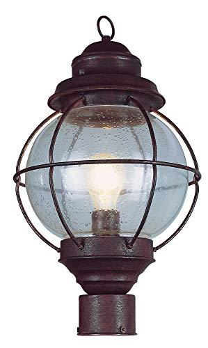 Trans Globe Lighting 69902 RBZ Outdoor Catalina 15' Postmount Lantern, Rustic Bronze