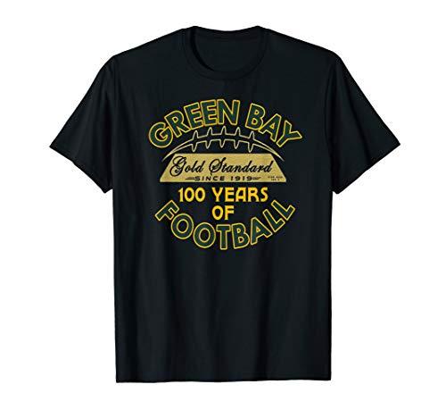 Green Bay 100 Year Anniversary Vintage Football 100 Years T-Shirt