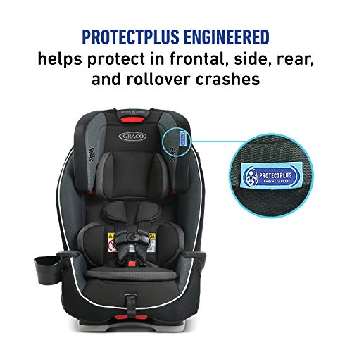 Graco Milestone 3 in 1 Car Seat | Infant to Toddler Car Seat, Gotham