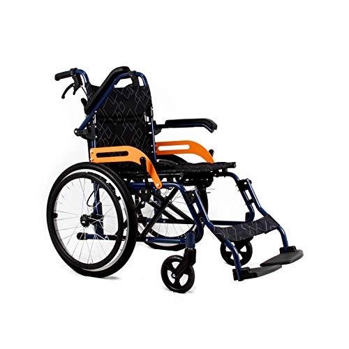 Sport Rollstuhl, Faltbarer Spielraum Rollstuhl Gelände, Heller faltbares Manuell mit Eigenantrieb Aluminiumlegierung Rollstuhl Quick Release Rad