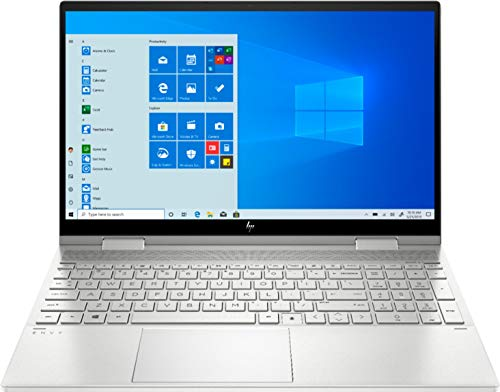 Newest HP ENVY x360 2-in-1 15.6' FHD TouchScreen Laptop, i5-1035G1, Built-in Amazon Alexa, HD Webcam, Backlit Keyboard, Fingerprint Reader, IPS, Thunderbolt 3, Silver, Win 10 (24G RAM | 1024 PCIe SSD)