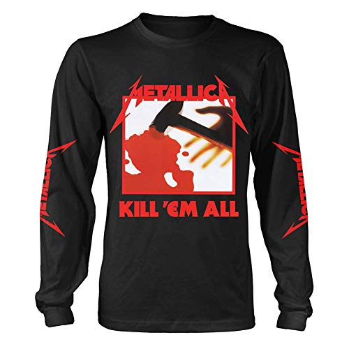 Metallica T Shirt Kill 'Em All Long Sleeve Shirt for Men, Small
