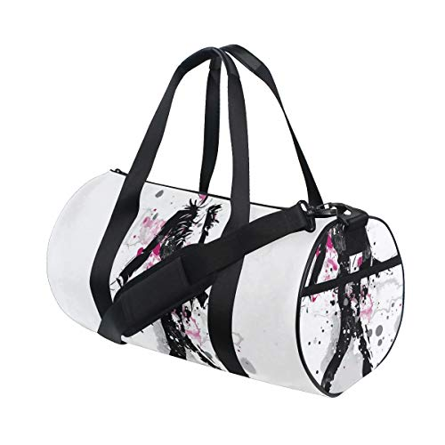 HARXISE Sports Gym Bag,Glamorous Stylish Sexy Woman Model On Catwalk Runway In Vintage Clothes Design,Holdall Gym Bag Sports Duffel Bag with for Weekender Overnight Carry