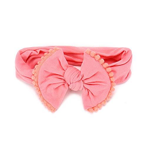 Babyhaar voorkomt hoofdbanden meisjes grote boog haarbanden voor pasgeborenen, peuters en kinderen oranje