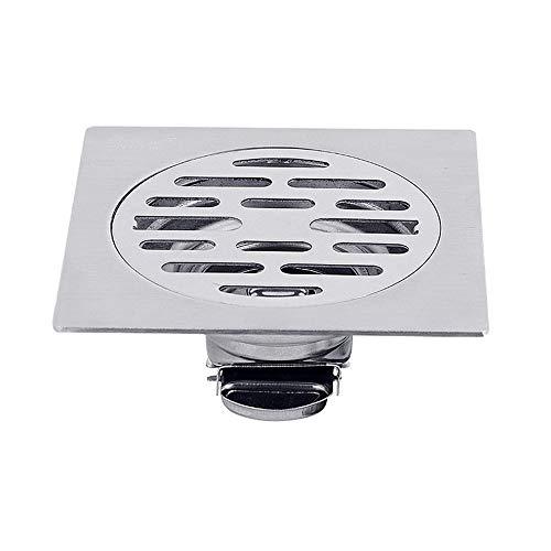 Voixy Bodenablauf Bodensiphon Duschablauf Gitter, Ablauf für Badezimmer, aus Edelstahl 304, 10x10