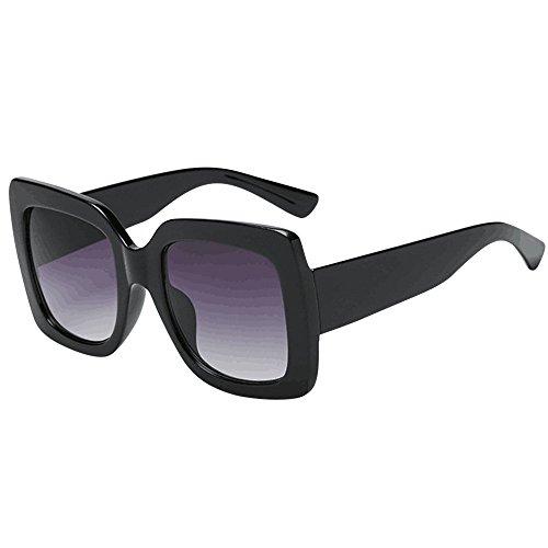 Topgrowth Occhiali da Sole Donna Quadrati Oversized Piazza Occhiali da Sole di Lusso Lenti Sfumate Vintage Eyewear Sunglasses (A)