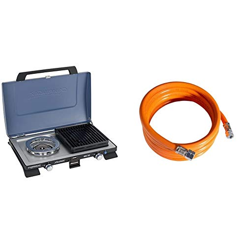 Campingaz 400 SG Campingkoche, Kompakter Outdoor Kocher Mit Windschutz, blau, S & Mitteldruckschlauch 800, Orange, 100 x 2 x 2 cm