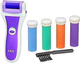 AEG PHE 5642 - Aparato pedicura lima electrónica para eliminar callos y durezas de pies, eliminador de callosidades eléctrico con 4 rodillos