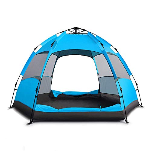 Lightweight Tent,Ultra Large Pop Up Camping Tent for 5 to 7 Person Automatic Opening Hexangular Hydraulic Double Layer Tent 100% waterproof Easy to Set up