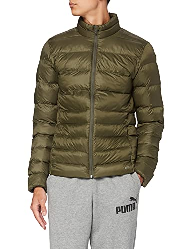 CARE OF by PUMA Chaqueta acolchada impermeable para hombre, Verde (Green), S, Label: S