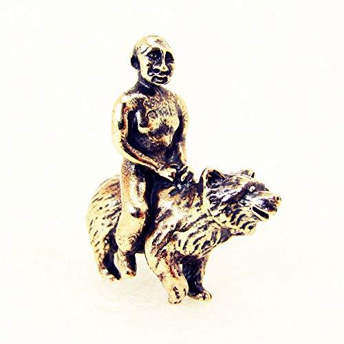 Putin Reitet Auf Bär Figur Miniatur Dekorativ Skulptur Bronze Kleinplastik Figurine