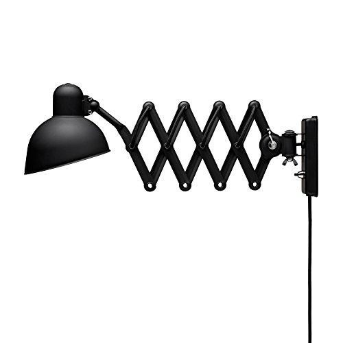 Kaiser Idell 6718-W Wand-/Scherenleuchte, schwarz matt ausziehbar 47-89cm