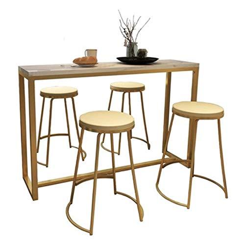 N/Z Équipement Quotidien Table de Bar Table de Petit-déjeuner Table de Bar de Salon Simple Maison Moderne Mur de cloison de séparation Table Longue Table Haute (Couleur: Or Taille: 120x40x105cm)