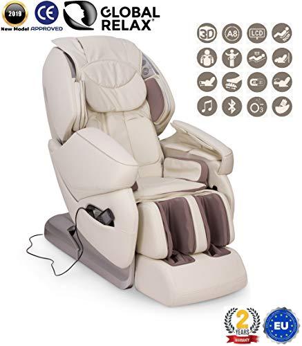 REBAJAS -250€ l NIRVANA Sillón de masaje 3D - Beige (modelo 2019) -...