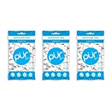 PUR 100% Xylitol Chewing Gum, Sugarless Peppermint, Aspartame Free & Sugar free, Vegan & Keto Friendly - Relieves Dry Mouth - Fresh Mint Pure Natural Flavored Candy, 55 Count (Pack of 3) by PUR Gum