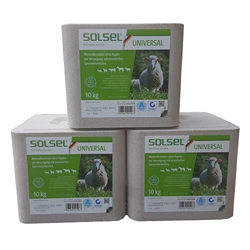 esco GmbH & Co. KG Solsel 3x10kg Mineralstein ohne Kupfer Salzleckstein Leckstein Universal