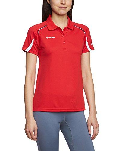 JAKO Passion t-Shirt à Manches Courtes pour Femme Multicolore Rouge/Blanc 34-36