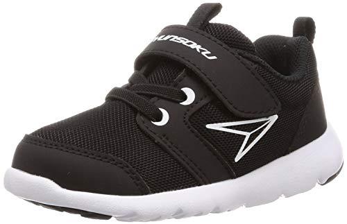 [シュンソク] スニーカー 運動靴 軽量 足育 15~22cm 2E キッズ 男の子 女の子 SKF 2310 2340 ブラック 15 cm
