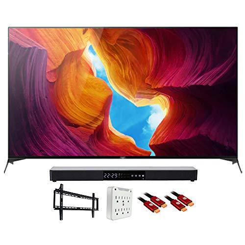 Sony XBR49X950H 49' X950H 4K Ultra Full Array HD LED TV (2020 Model) Bundle with Deco Gear Home Theater Premium Soundbar + Deco Mount Wall Mount Accessory Kit + Deco Gear 2X HDMI Cable (5 Items)