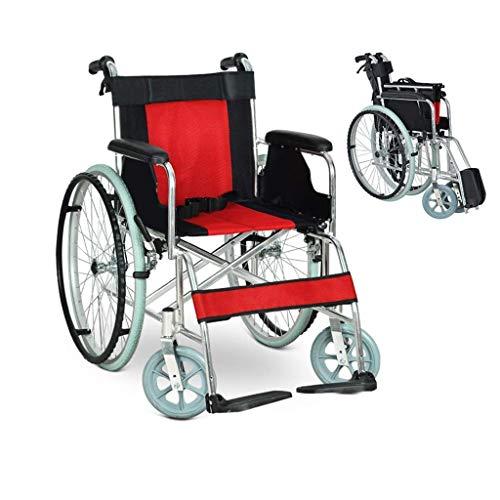 HFJKD Rollstühle Selbstfahrender Rollstuhl, Leichter klappbarer Rollstuhl aus Aluminiumlegierung, tragbarer Mehrzweckwagen für ältere Menschen, ergonomisch, für Behin