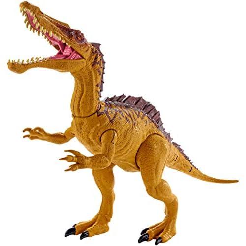Jurassic World Dino Rivals Sucomimo, Dinosauro Doppio Attacco Articolato, 15 cm, Giocattolo 3+ anni, GDL07
