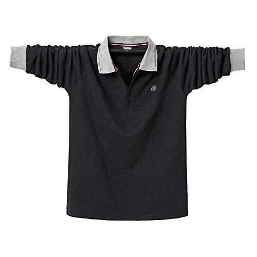 YIGAR 長袖 襟付き 大きいサイズ M-5XL メンズ ポロシャツ ストライプ 綿 多色選択 春夏秋冬 ゴルフウェア 通気性 吸汗速乾 Tシャツ スポーツ オフィス 無地 カジュアル 5182�K3XL