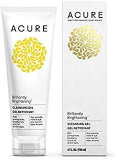 Acure Brilliantly Brightening Cleansing Gel, 4 Fluid Ounces (Pack of 2)