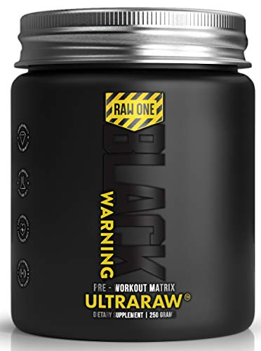 ULTRARAW Pre Workout Powder By Raw One | 250g Pre Workout Supplement | Suitable for Vegetarians/Vegans | Watermelon | AAKG | Beta Alanine | Citrulline Malate | L Taurine | BCAA | Caffeine |Made In Uk