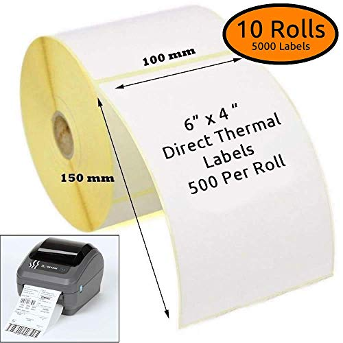 Zebra White Direct Thermal Labels - 150mm x 100mm (4