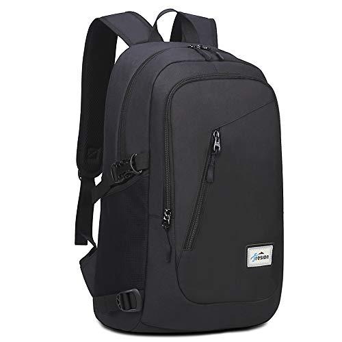 Fresion Laptop-Rucksäcke für 15/15,6 Zoll Notebook Business Tasche Rucksack mit USB Ladeport Stylishe Leicht Universität Schulrucksack 26L×13B×48H cm (Schwarz)