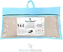 "NutriBuck Organic Buckwheat Pillow | Standard Size | 15"" x 25"" inch | Pillow for Neck Pain | Shoulder Pain | Back Pain | Other Sleeping Problem (Golden Flax)"