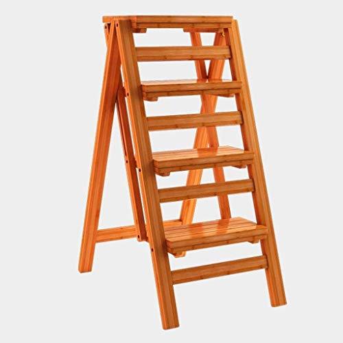 GDFEH Sgabello a scaletta multifunzione in legno massello Sgabello Step Sistema a doppio uso Ladder ascendente a doppio uso Ladder ascendente, 42 × 67 × 92 cm Home Library Scaletta
