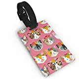 Ewtretr Etiquetas para Equipaje, Whiskers & Tails Dressy Kitty Cats Luggage Tags...
