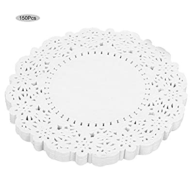 150 pcs White Lace Paper Doilies Disposable Oil-absorbing Decorative Tableware Papers Placemats Baking Tools Accessories