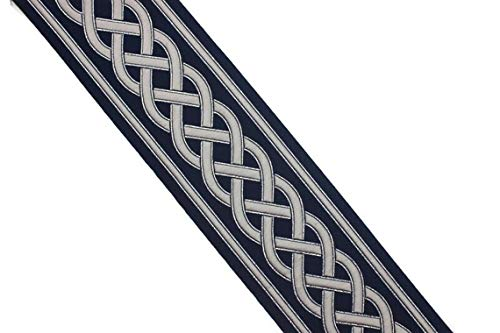 3.80 Yard Spool 3.93 inches Wide Celtic Woven Embroidered Ribbon Jacquard Trims Sewing Trim Drapery Trim Curtain Trims Jacquard Ribbons 177