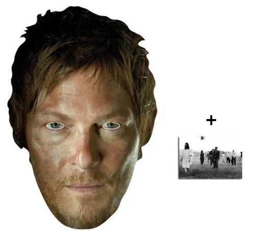 BundleZ-4-FanZ Fan Packs The Walking Dead Daryl Dixon (Norman Reedus) Karte / Pappe Partei Maske - Enthält 6X4 (15X10Cm) starfoto