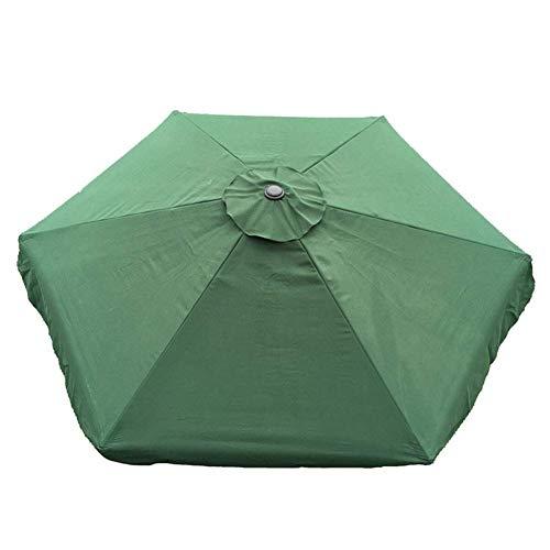 Zacha Parasol Toldo Keep Frío Exterior Duradero Poliéster para Patio Sombrilla SY Instalar Impermeable Jardín Recambio Cubierta Sombra Anti UV Backyard (Rojo) - Verde, Free Size
