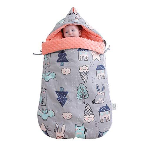 Baby Swaddle Massage Deken Pasgeboren Baby Beddengoed Katoen Slaapzak Katoen 0-12 Maanden en Boven Leuke Baby Jongen Meisjes Slaapzak Baby Wrap Deken (80cm) L Grijs