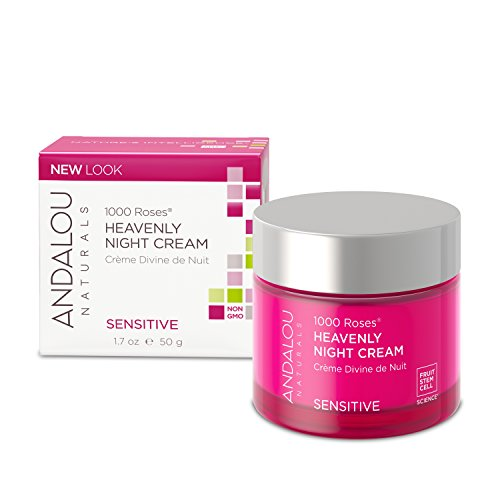 Andalou Naturals Night Cream, White, 1000 Roses Heavenly, 1.7 oz (Pack of 1)