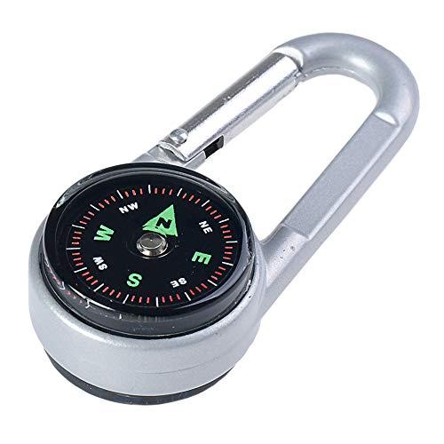 Huntington Kompass CTC-01 Karabinerhaken-Kompass und Thermometer, professionell flüssigkeitsgedämpfte Anzeige im Metallgehäuse (DC27T2 DE)