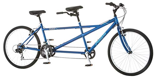 Cheap Pacific Dualie Tandem Bicycle w/ 26inch Wheels,Blue, One Size (Renewed)