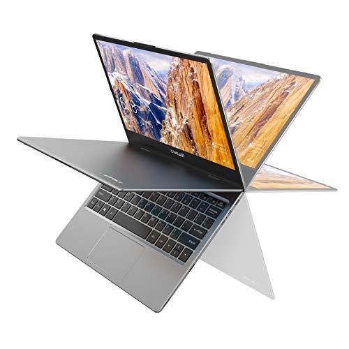 ノートパソコン TECLAST F5 11.6インチ 8GB LPDDR4   256GB SSD、タッチスクリーン 360°自由回転でき ノート PC、1920*1080 IPS ディスプレイ、Win10搭載 薄型軽量PC、インテル Celeron N4100 4コア、Micro-HDMI Type-C Micro USB デュアルWIFI  WEBカメラ Bluetooth 4.2 TF拡張 、テレワーク応援・初心者向け 仕事用・学習用パソコンノート、シルバー