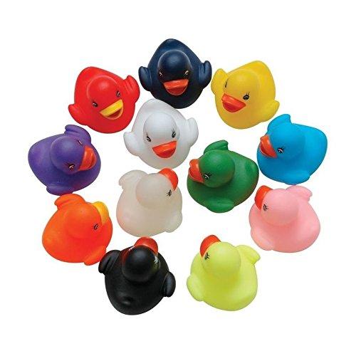 5x Bunte Schwimmende Badeenten, Gummiente, Schwimmente, Badewannenspielzeug Enten Set