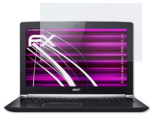 atFolix Glasfolie kompatibel mit Acer Aspire V Nitro 7-593G 15,6 inch Panzerfolie, 9H Hybrid-Glass FX Schutzpanzer Folie